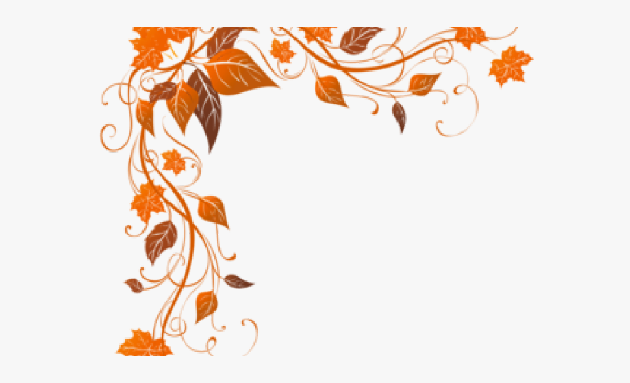 image Fall borders clipart free. Autumn leaves corner border.
