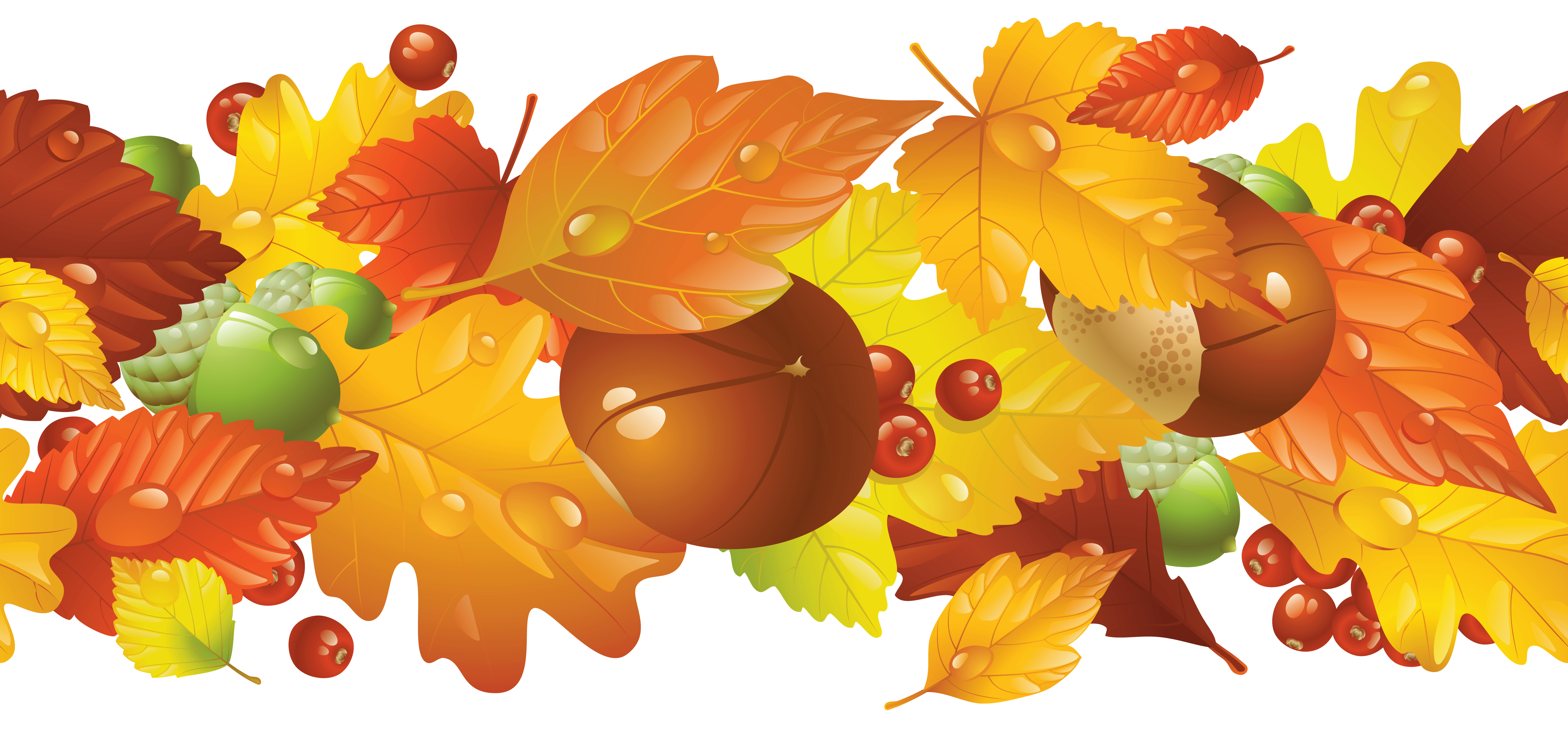 clip library download Fall borders clipart. Transparent border png picture.