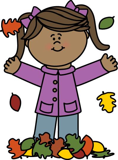 svg stock Clip art images girl. Fall clipart