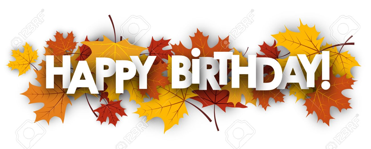 banner transparent download Autumn x free clip. Fall happy birthday clipart
