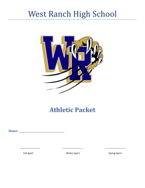 banner transparent download Fillable Online West Ranch High School Athletic Packet Name