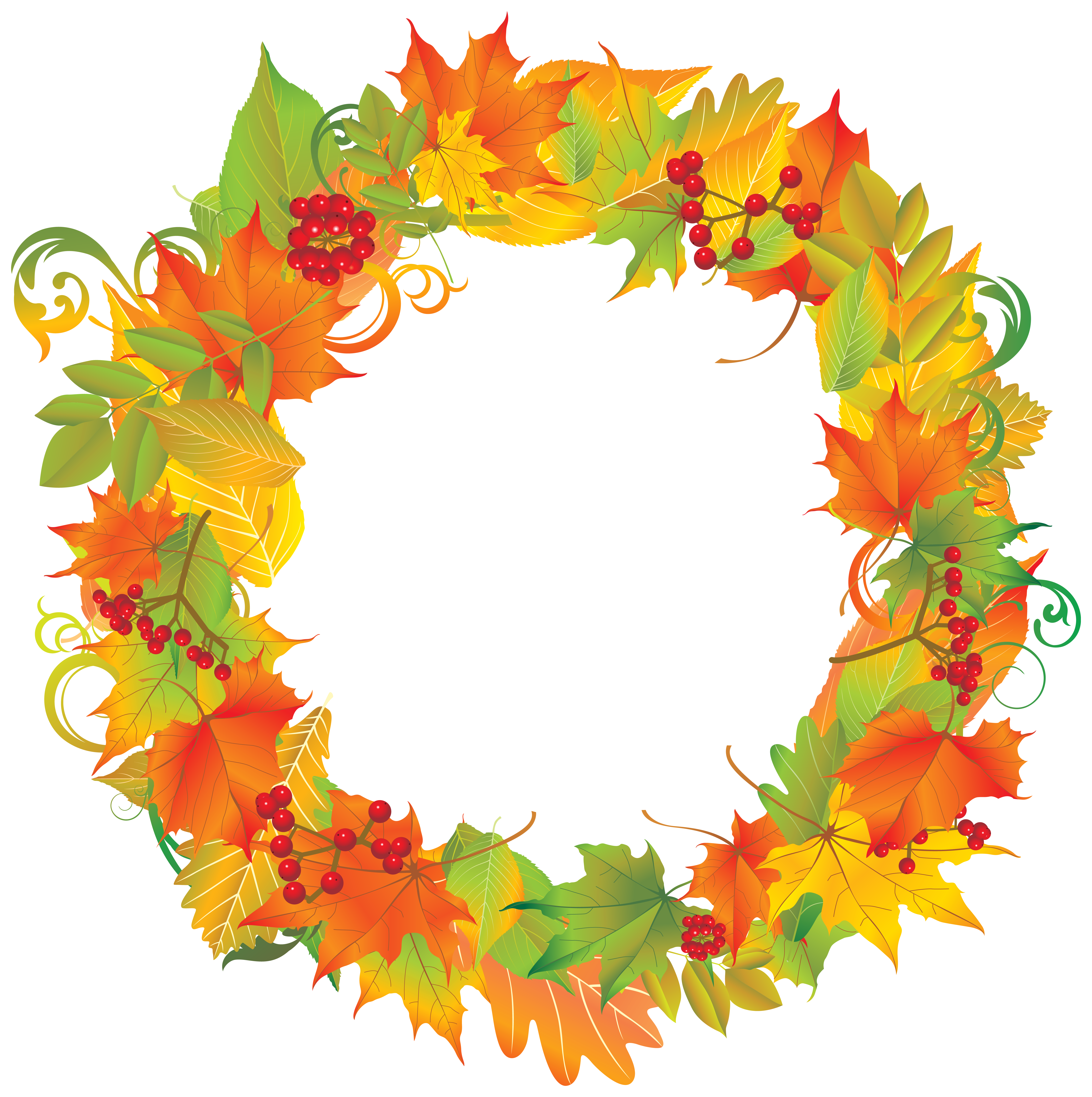 picture royalty free Autumn png image gallery. Fall wreath clipart