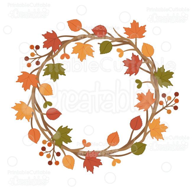 svg freeuse Fall wreath clipart. Pin on svg cutting