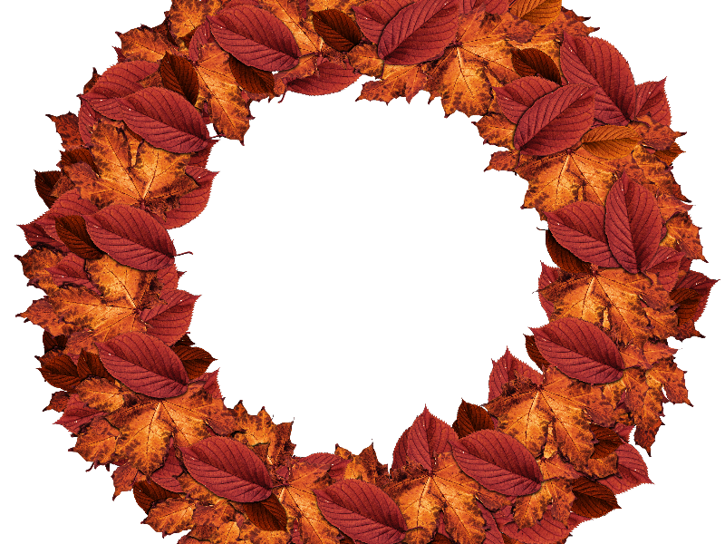jpg Fall wreath clipart. Autumn leaves png nature