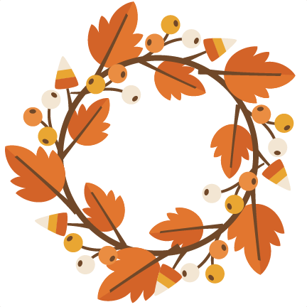 graphic library stock Svg cutting file for. Fall wreath clipart