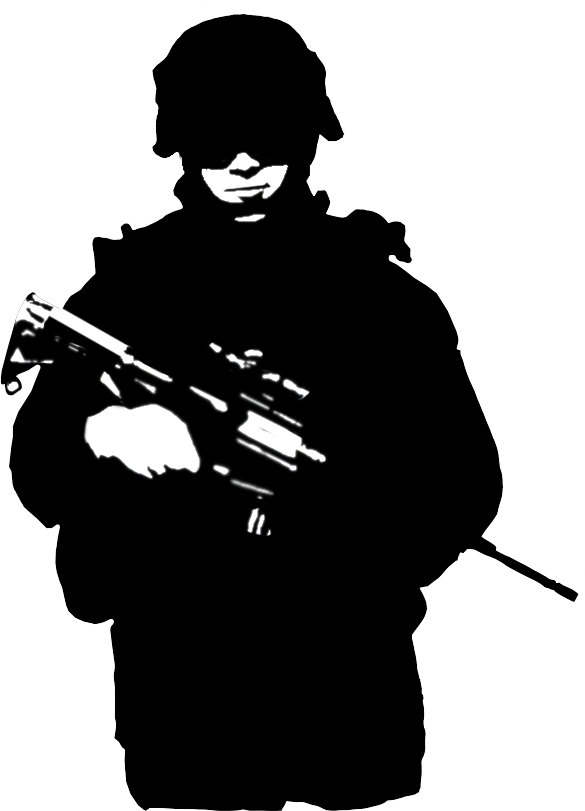 svg free stock soldier silhouette