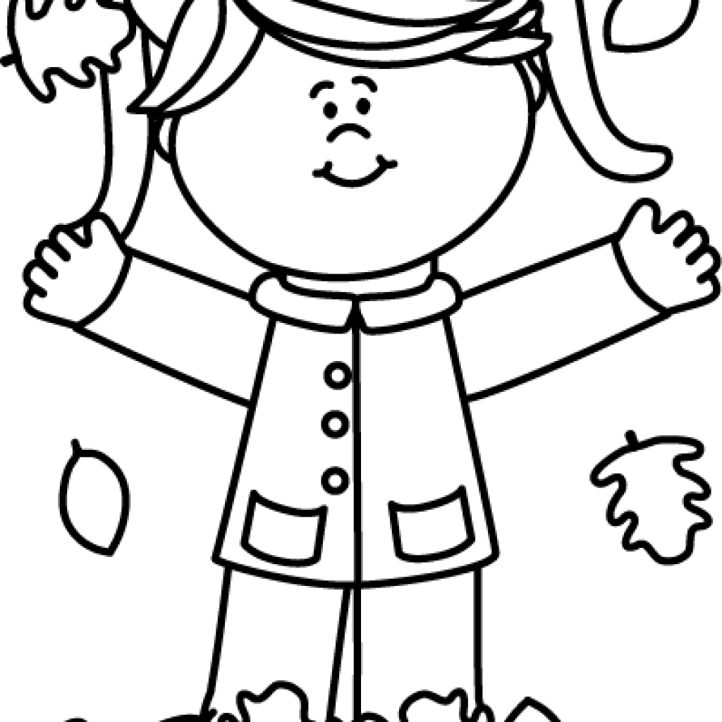 svg freeuse library Fall hatenylo com girl. Black and white monkey clipart