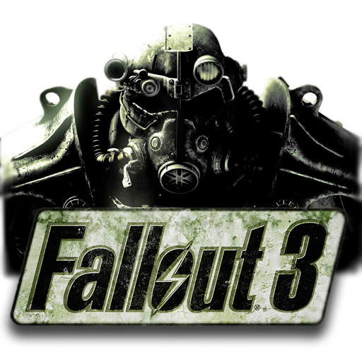 png black and white download Dock icon by xterryxbogardx. Fallout transparent 3