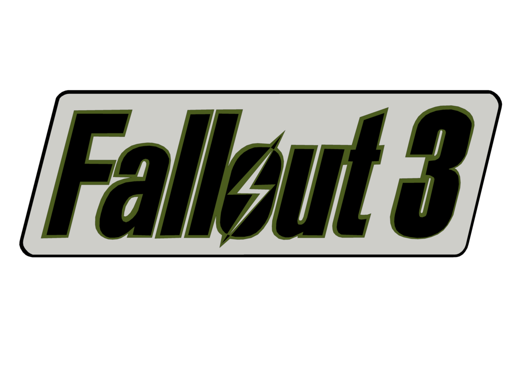 vector royalty free download Fallout transparent 3. Logo render by thejackmoriarty