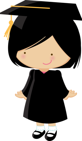 vector library stock Little graduates