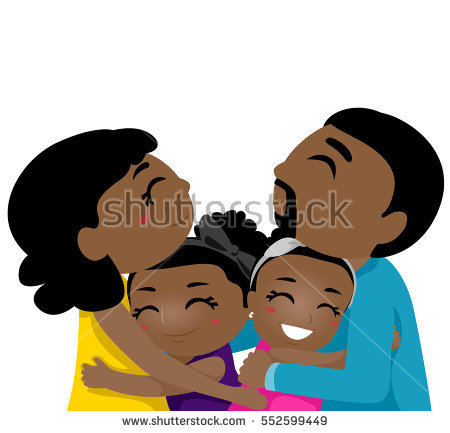 image royalty free stock Family hugging station . Families clipart hug