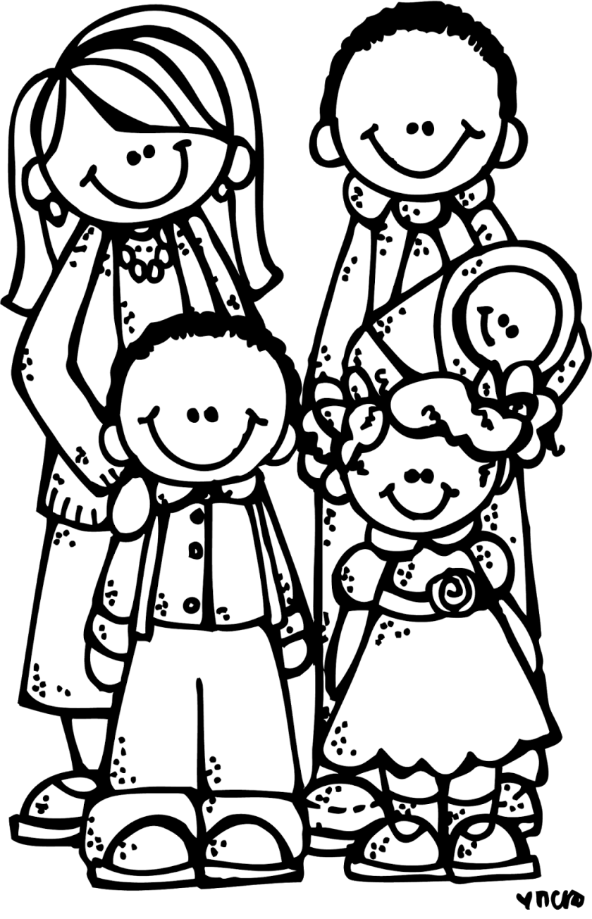 graphic download Craft projects lds clip. Family black and white clipart