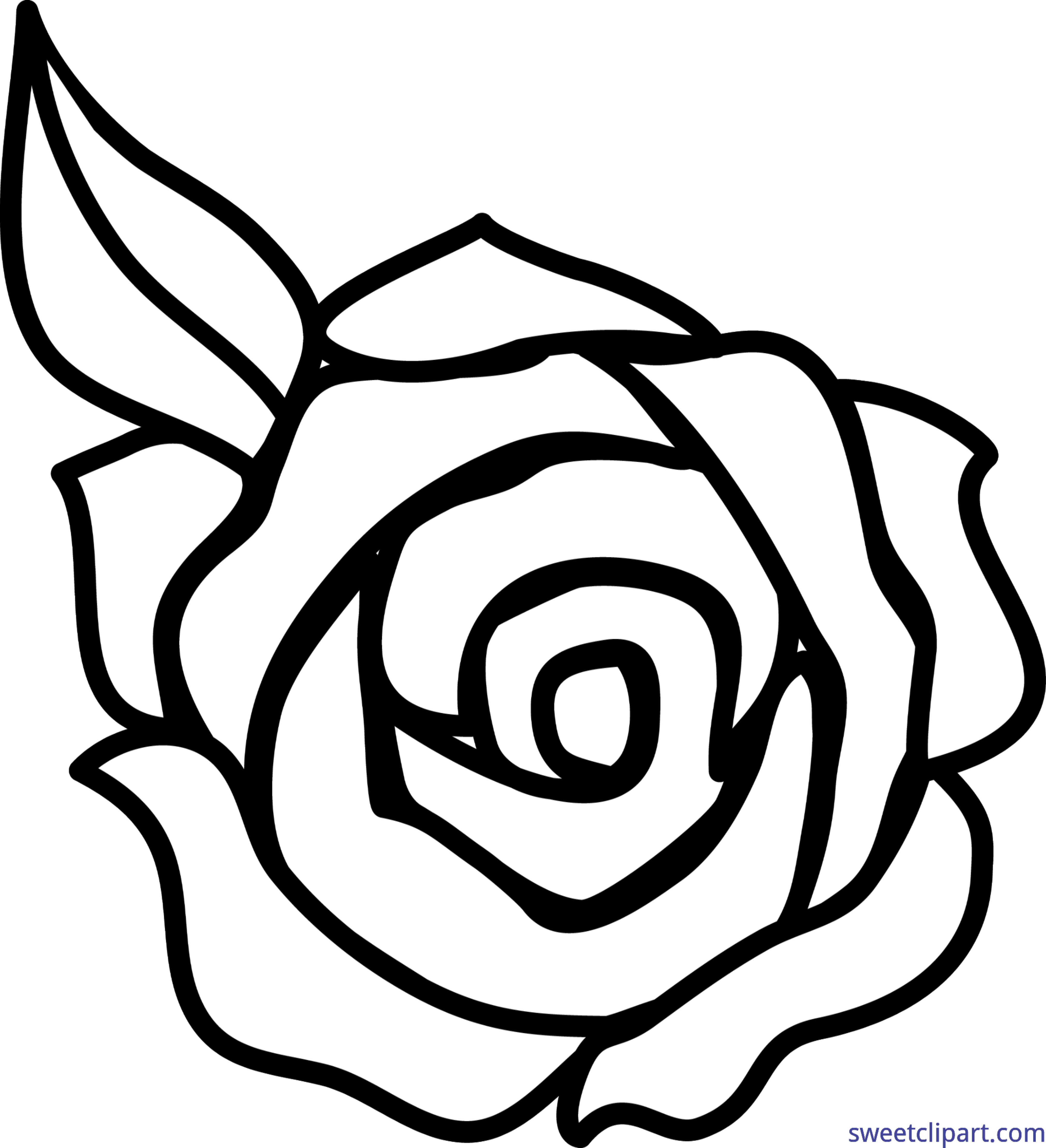 svg library library Family black and white clipart. Rose lineart clip art