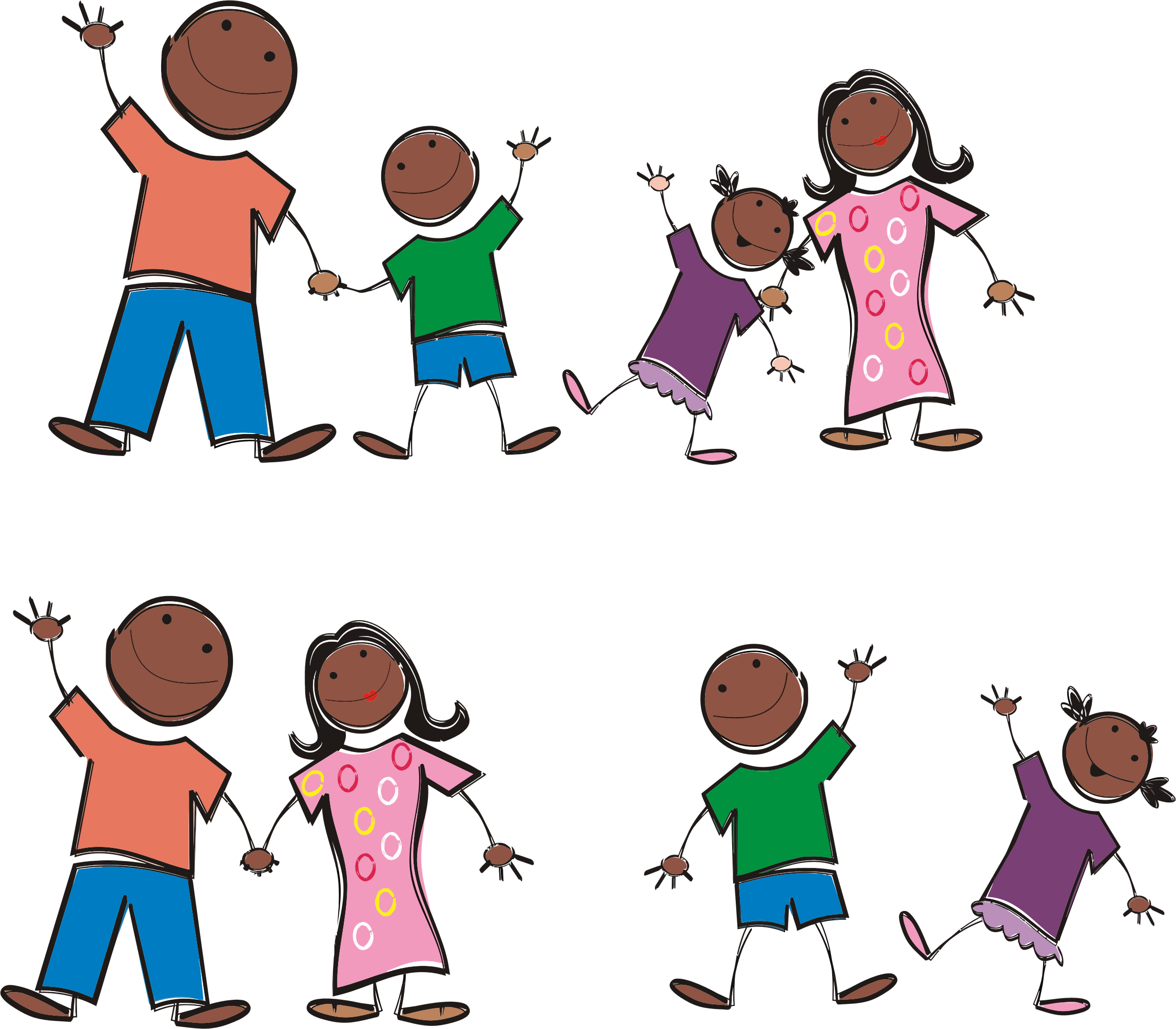 picture transparent library Family clipart. Black stick figure