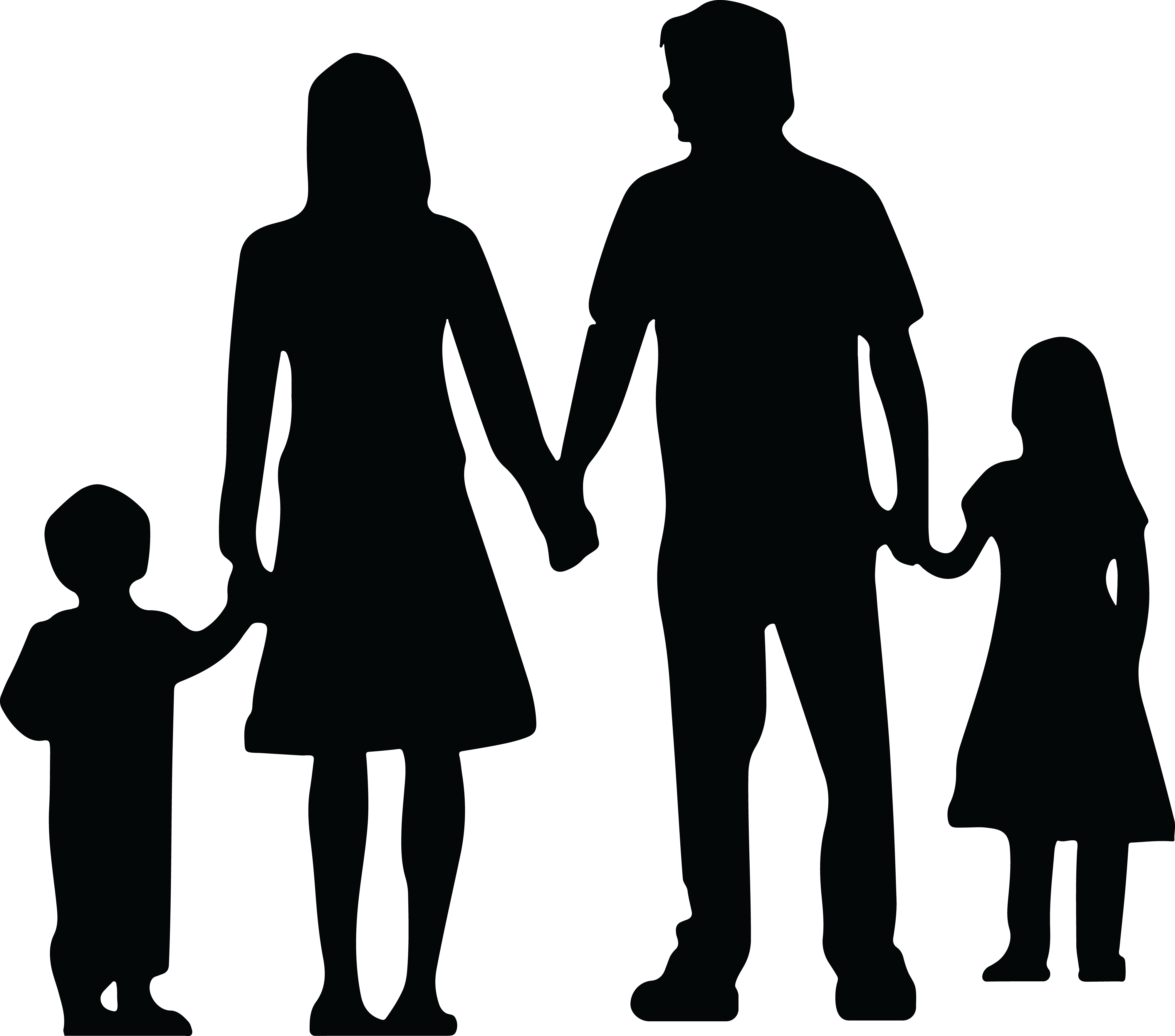 picture royalty free download Silhouette People Holding Hands at GetDrawings