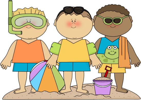 banner black and white download Summer boys on beach. Kids swimsuit clipart