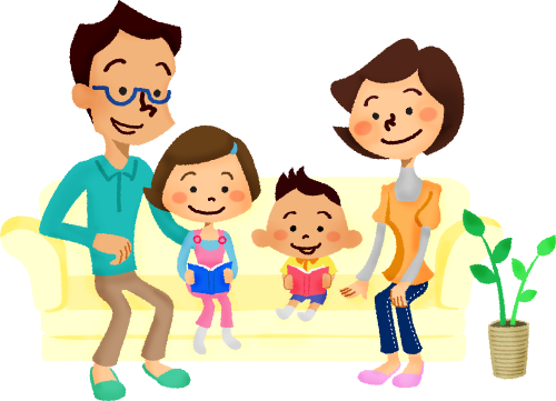 graphic free Supermarket clipart family. Relaxing on sofa free