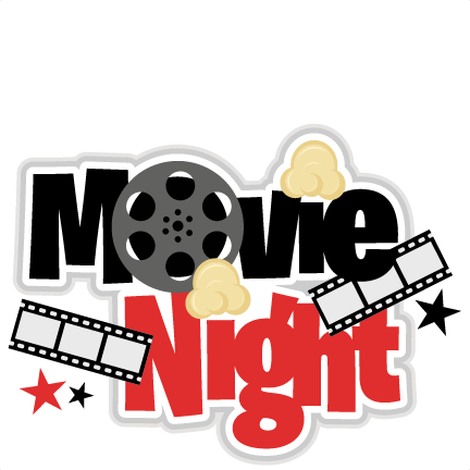 picture black and white download Kids movie night clipart. Family providence community library