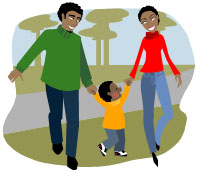 royalty free stock Family walking clipart. Free cliparts download clip