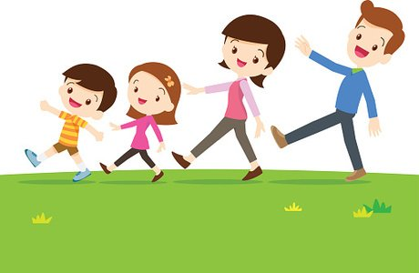 image transparent download Cute image clip arts. Family walking clipart
