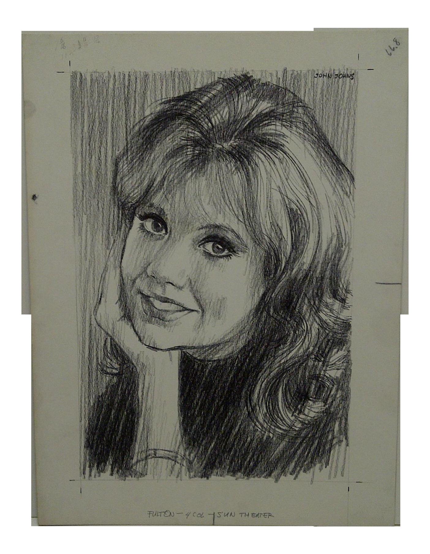 png royalty free John johns original somebody. Drawing portrait famous