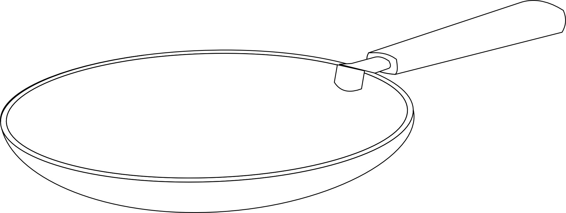 clip transparent stock Pan clipart black and white. Fans frying pencil in.