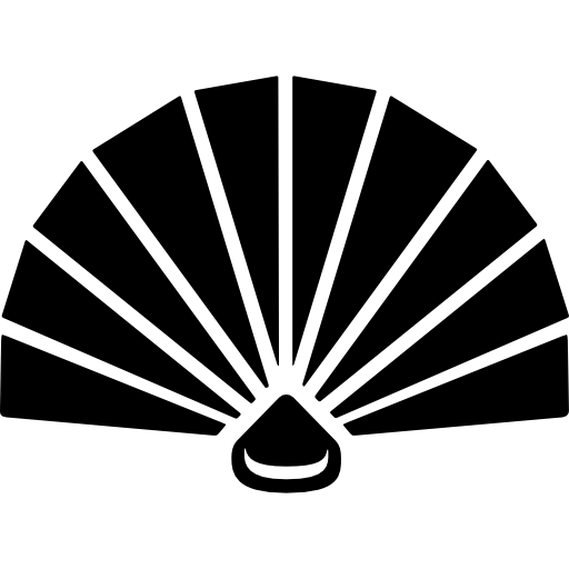 png black and white library Geisha Fan