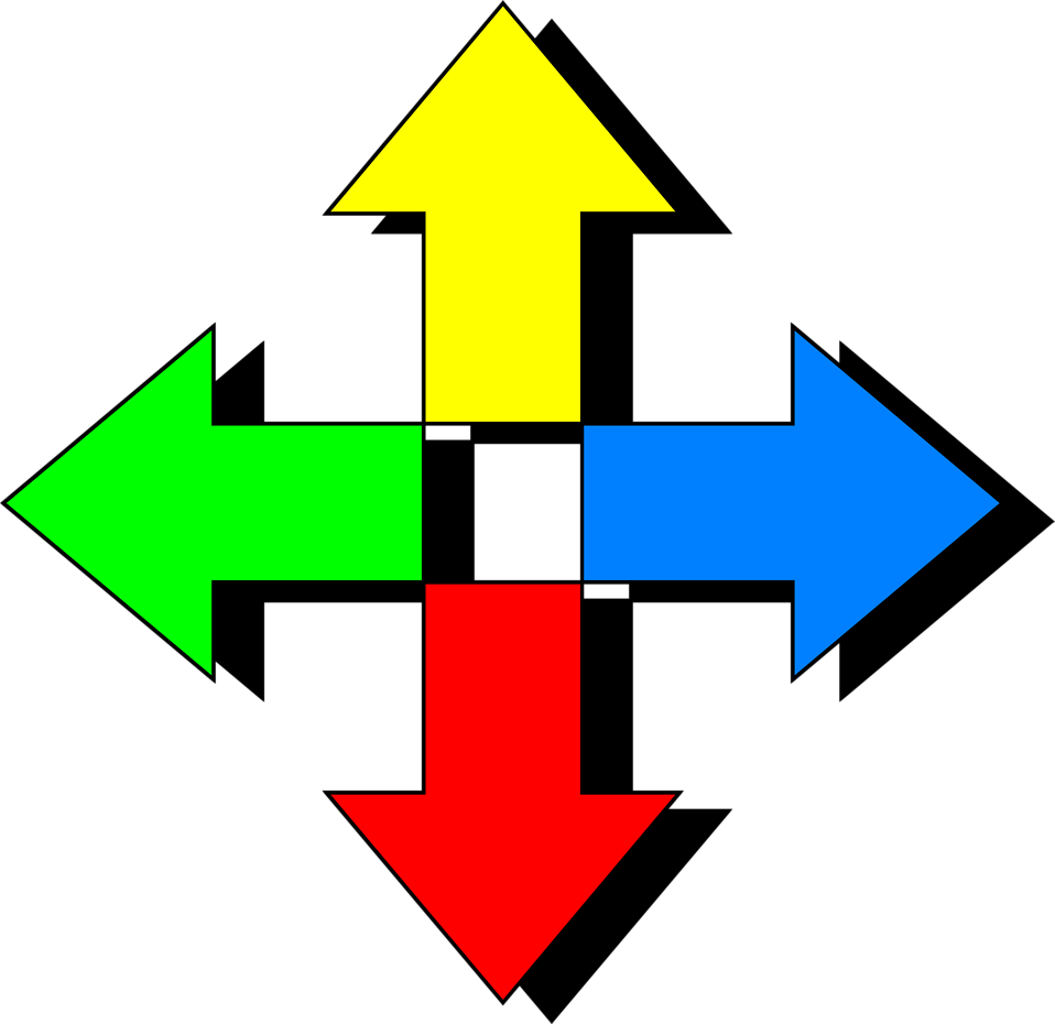 png download Arrows four way free. Fancy arrow clipart.