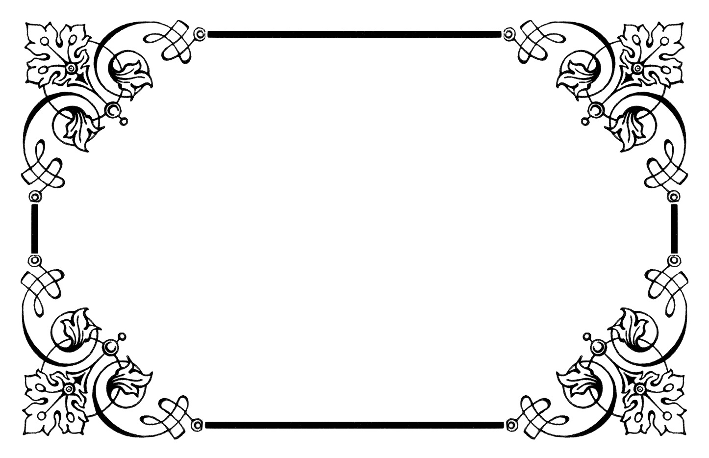 image freeuse stock Clipart borders vintage. Fancy frame clip art