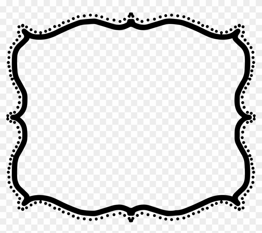 png black and white Frame clipart png. Fancy border clipartxtras free