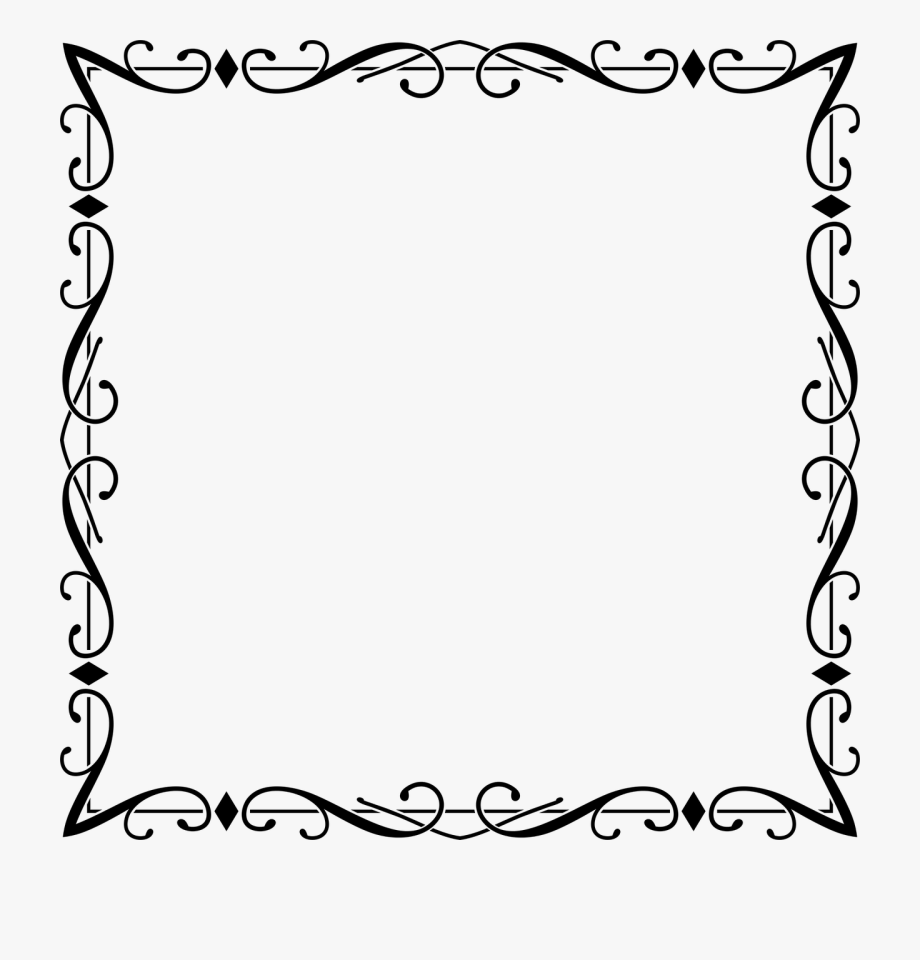 image black and white stock Flourish and frames picture. Frame borders clipart