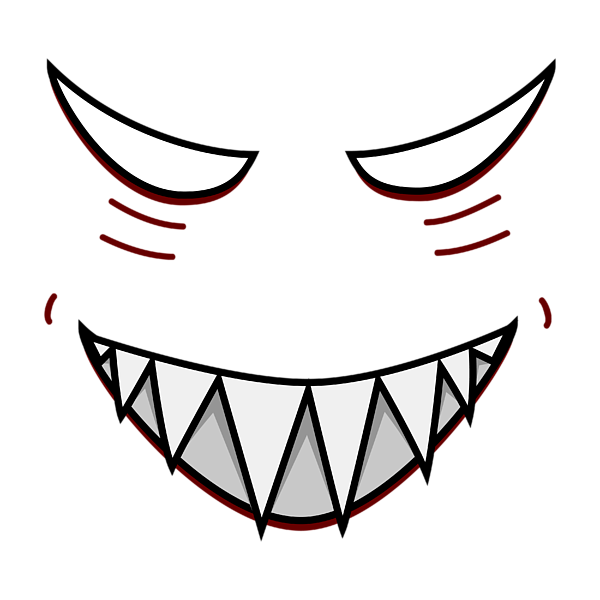 graphic freeuse Collection of free Vector mouth evil