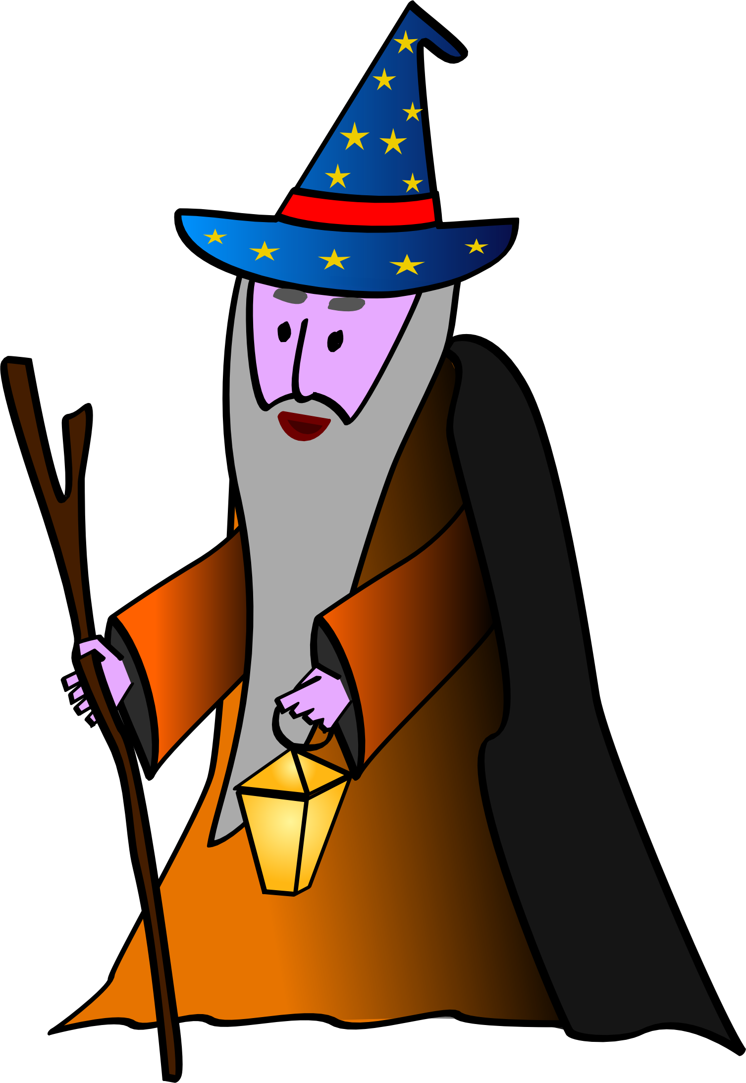 clip black and white stock Old wizard big image. Microsoft clipart wizzard.