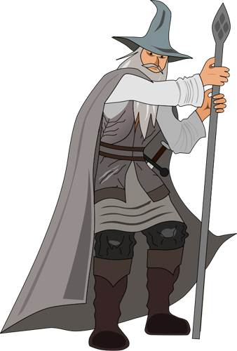clipart library Free graphics of wizards. Fantasy clipart wizard.