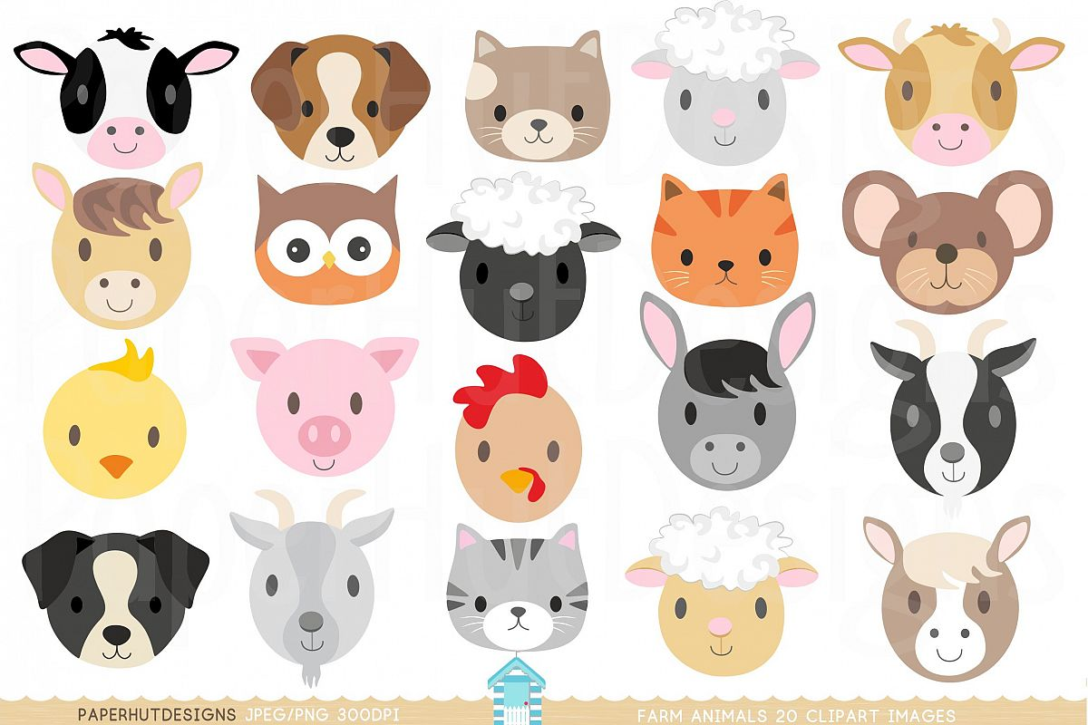 png Faces . Farm animal clipart
