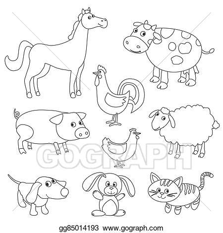 clip transparent library Farm animal clipart black and white. Station