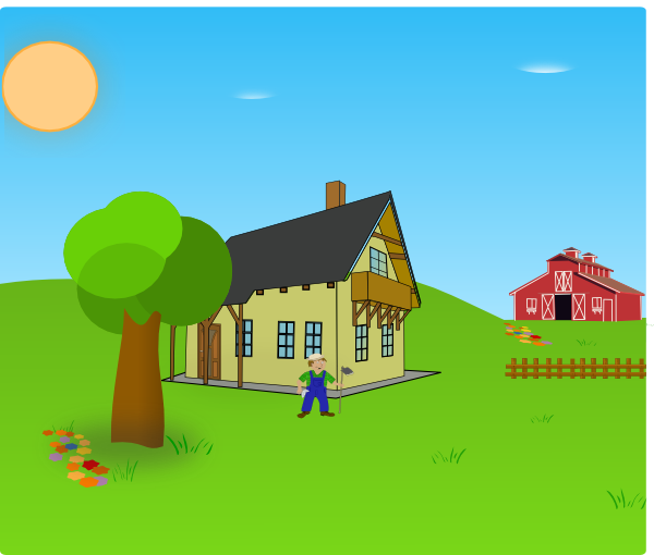 graphic free download Farm Background Clip Art at Clker