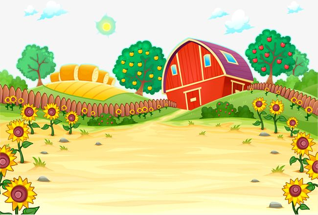 clip black and white Farm background clipart. Red house vector png
