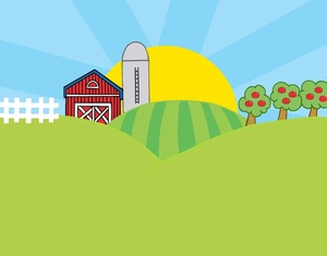 banner royalty free download Clip art library . Farm background clipart
