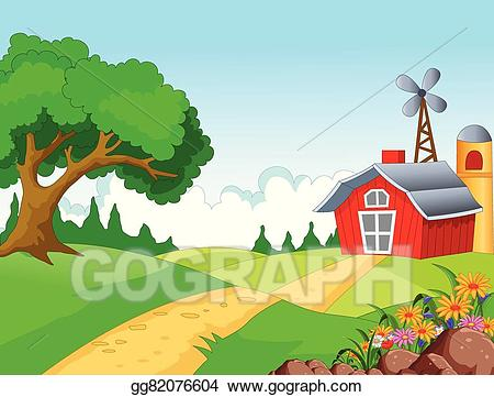 image royalty free library Vector for you design. Farm background clipart