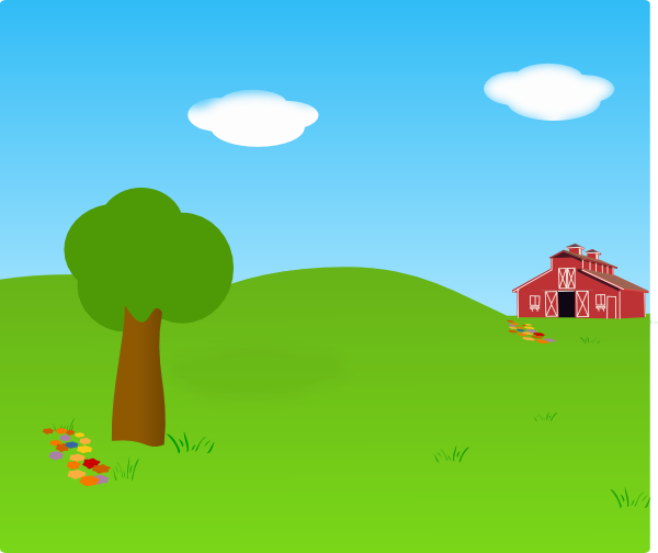 svg transparent library Farm Background Clip Art at Clker