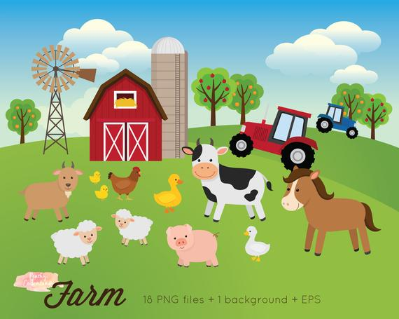 banner library stock Buy get free animals. Farm clipart.