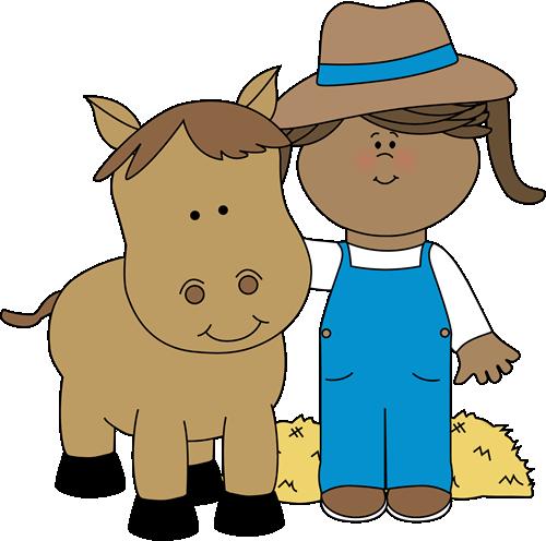 vector Farm clipart. Clip art images girl
