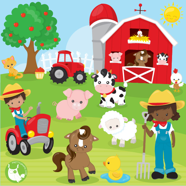 svg freeuse stock Happy . Farm clipart.