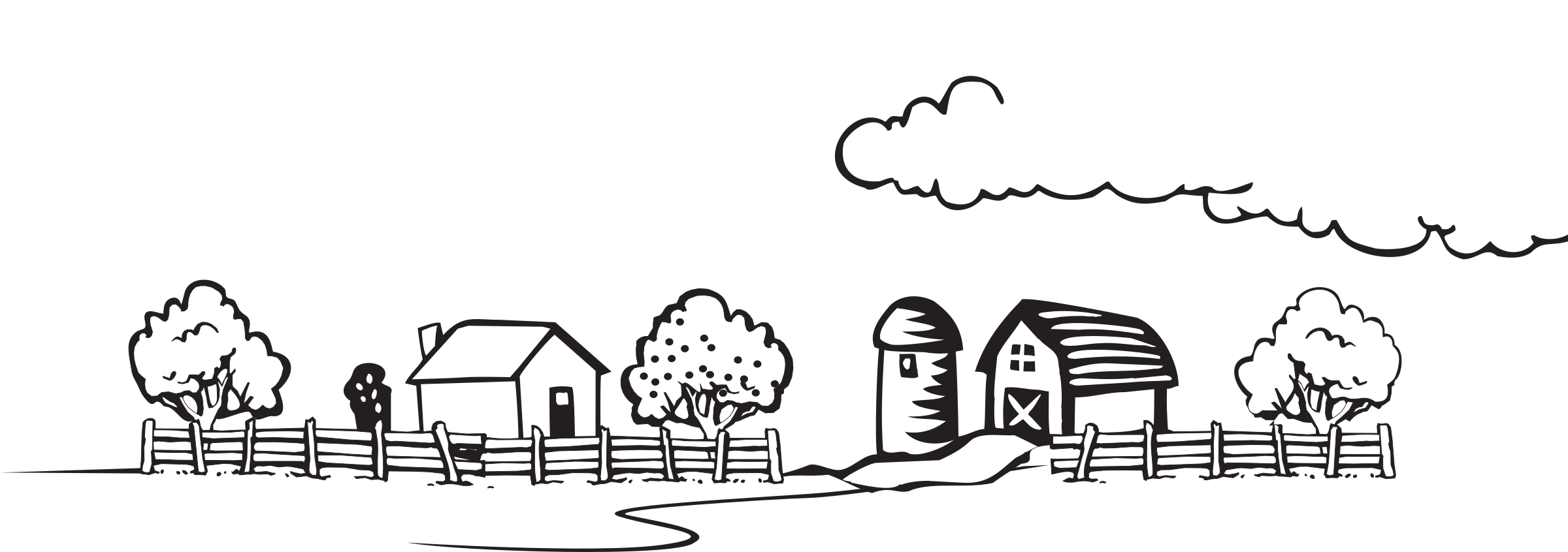 clipart free stock  collection of coloring. Farm clipart black and white