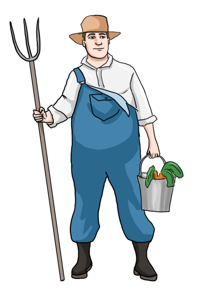 clip library Farmer clipart. Clipartaz free collection black