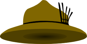 clipart transparent Clothing Brown Scout Hat Clip Art at Clker