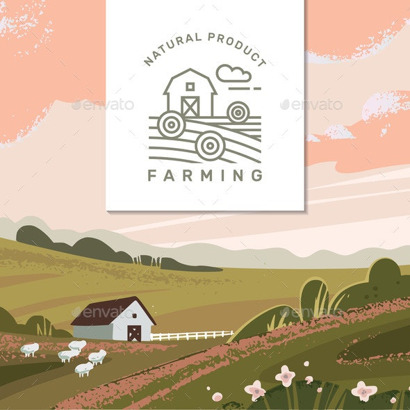graphic download Vector Farming Background
