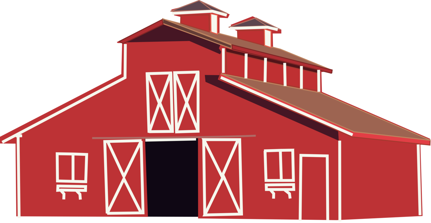 graphic freeuse library Barn Building Farm Pen Real Estate free commercial clipart