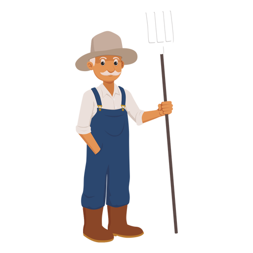 vector stock Old farmer cartoon png